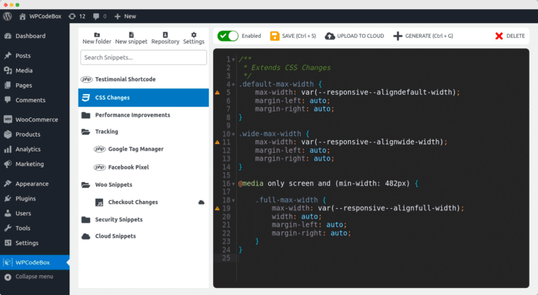 WPCodeBox: модифицирайте WordPress лесно